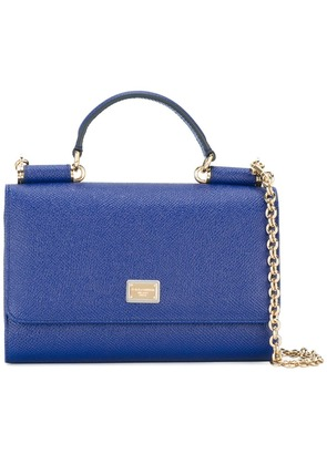 Dolce & Gabbana mini Von wallet crossbody bag - Blue