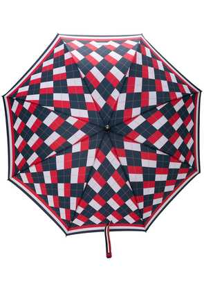 Thom Browne Argyle Crooked Handle Umbrella - Red
