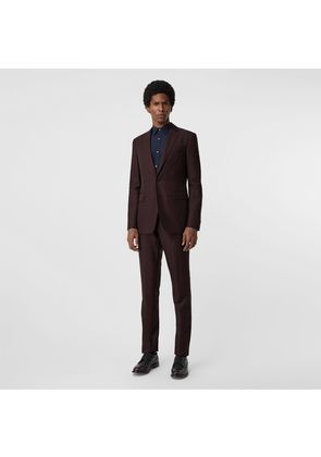 Burberry Slim Fit Wool Mohair Silk Suit, Red