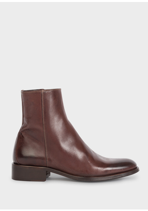 Women's Dark Brown Leather 'Adalia' Ankle Boots