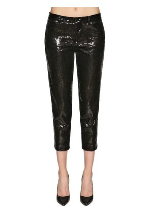CROPPED PANTS W/ SEQUINS