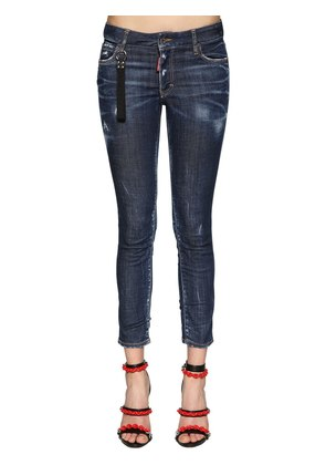 RUNWAY STRAIGHT CROPPED DENIM JEANS