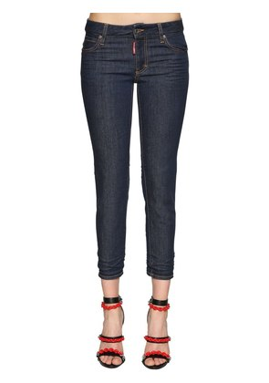 TWIGGY MID RISE CROPPED DENIM JEANS