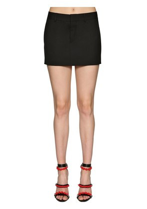 STRETCH WOOL MINI SKIRT