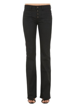FLARED COTTON DENIM JEANS