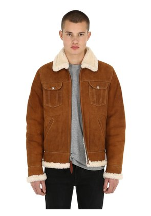 DOUBLE FACED WESTERN SHEARLING JACKET
