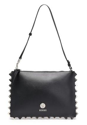Versus Versace Woman Embellished Leather Shoulder Bag Black Size -
