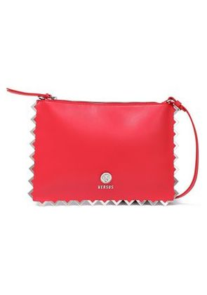 Versus Versace Woman Embellished Leather Shoulder Bag Red Size -