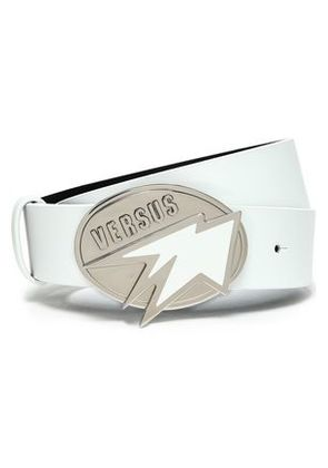 Versus Versace Woman Leather Belt White Size 70