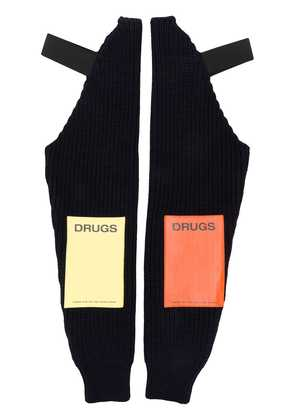 Raf Simons knitted sleeves - Blue