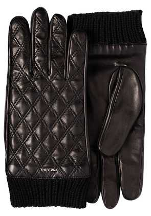 Prada diamond quilted gloves - Black