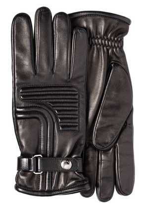 Prada top stitch detail gloves - Black