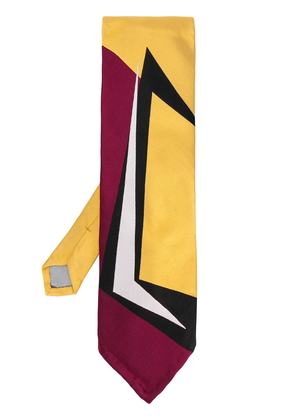 Marni graphic patterned tie - Yellow