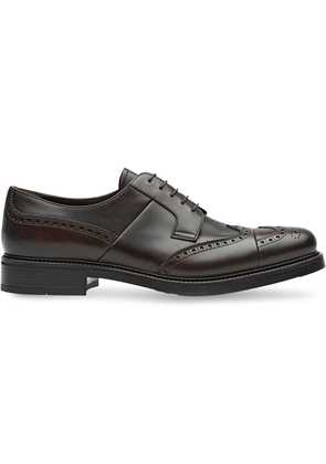 Prada Leather derby shoes - Brown