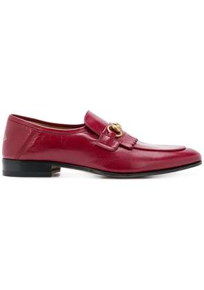 Gucci horsebit loafers - Red