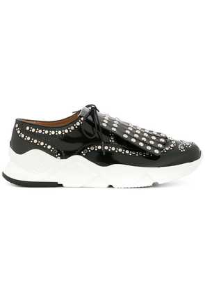 Clergerie embellished lace-up sneakers - Black