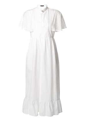 Alexa Chung broderie anglaise cape dress - White