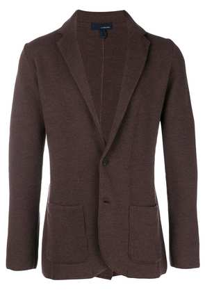 Lardini wool blazer cardigan - Brown