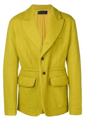 Haider Ackermann fitted single-breasted coat - Yellow