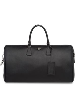 Prada Saffiano Leather Travel Bag - Black