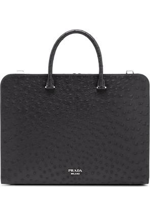 Prada top handle document holder - Black
