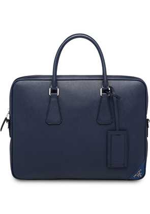 Prada top-handle laptop bag - Blue