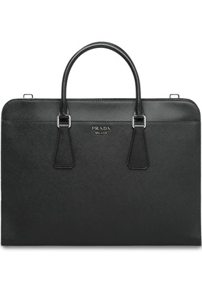 Prada zipped laptop bag - Black