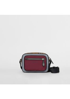 Burberry Colour Block Vintage Check Crossbody Bag, Red