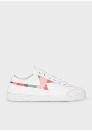 Women's White 'Swirl' 'Ziggy' Calf Leather Trainers