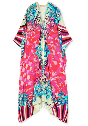 Emilio Pucci - Printed Voile Kaftan - Bright pink