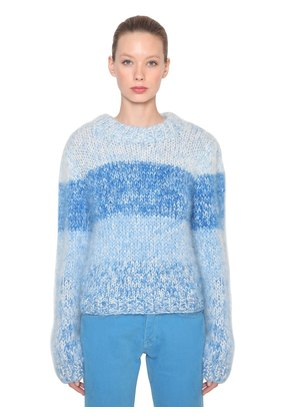 JULLIARD STRIPED MOHAIR KNIT SWEATER