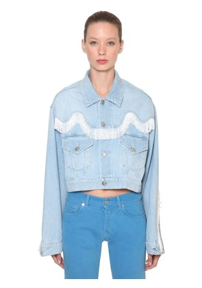 SHELDON FRINGED COTTON DENIM JACKET