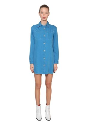 SHELDON COTTON DENIM MINI SHIRT DRESS