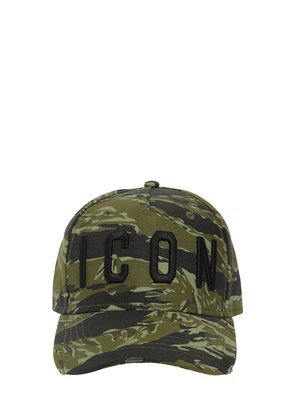 ICON CAMO COTTON CANVAS BASEBALL HAT