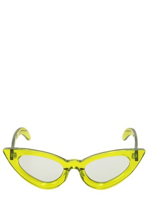Y3 TRANSPARENT GREEN CAT EYE SUNGLASSES