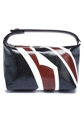 Emilio Pucci Woman Leather-trimmed Printed Coated Canvas Cosmetics Case Black Size -