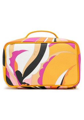 Emilio Pucci Woman Printed Textured-leather Cosmetics Case Marigold Size -