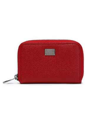 Dolce & Gabbana Woman Textured-leather Wallet Crimson Size -