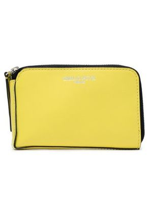 Emilio Pucci Woman Leather Wallet Pastel Yellow Size -