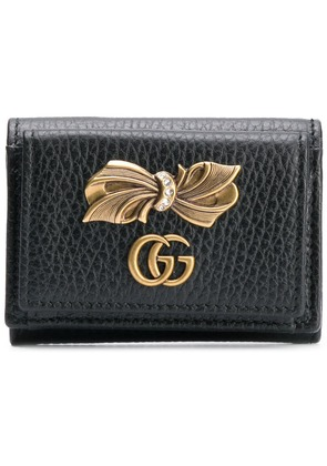 Gucci bow detail wallet - Black