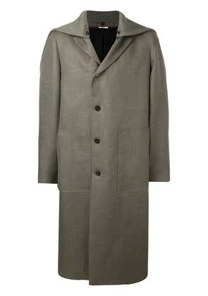 Jil Sander off-centre button coat - Grey