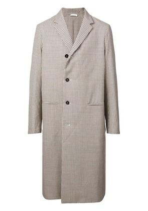 Jil Sander long single-breasted coat - Brown