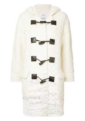 COOHEM knitted duffle coat - White