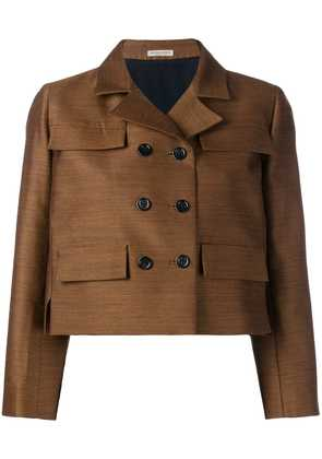 Bottega Veneta double-breasted cropped jacket - Brown