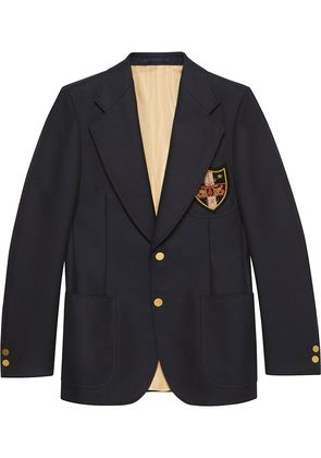 Gucci Wool jacket with patches - Blue