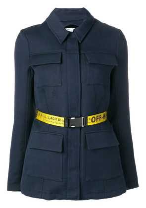 Off-White overshirt belted jacket - Blue