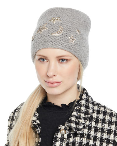 41cc0ce6f55 Galexia Stars   Moon Embellished Beanie Hat