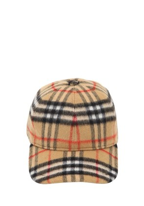 VINTAGE CHECK WOOL BASEBALL HAT