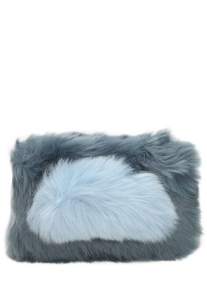 CANDY FAUX FUR CLUTCH