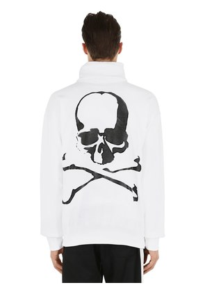 LOGO RUBBER PRINT HIGH COLLAR SWEATSHIRT